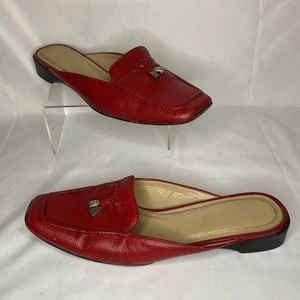 Red LRL Ralph Lauren Shoes Flats Slides Mules Sz 9